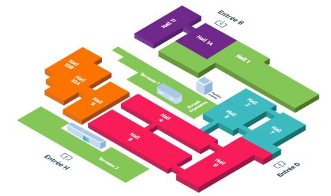 Plan exposants du salon Artibat 2021 Ty.Alu